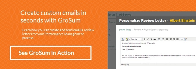 Signup for a Free Demo to understand how you can create Emails for an effective Performance Management process