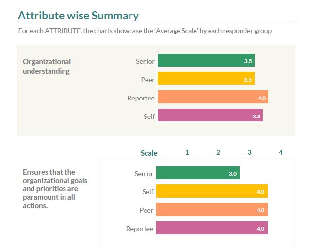 Attribute Wise Summary- GroSum 360 Degree Feedback