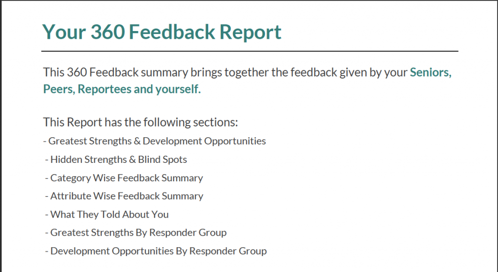 360 degree feedback report overview