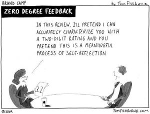 Feedback is about growth not just crunching numbers. Credit: Brand Camp by Tom Fishburn.