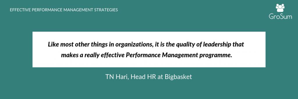 TN Hari, Head HR at Bigbasket
