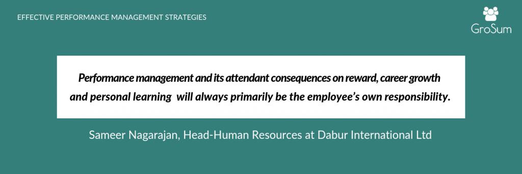 Sameer Nagarajan, Head, Human Resources at Dabur International Ltd